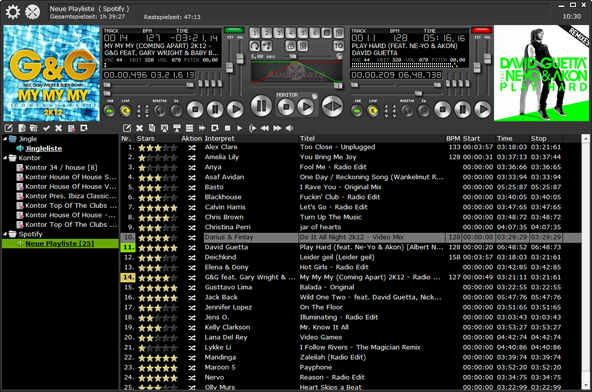 MP3 DJ Software - Audomate DJ